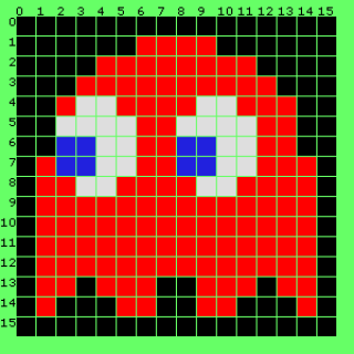 Blinky sprite from Pac-Man (1980, Arcade)